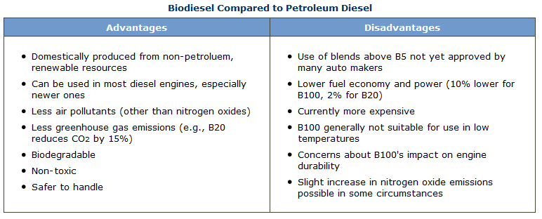 replacing petroleum the negatives and positives of various biofuels The main advantages of ethanol are that it what are the advantages and disadvantages of ethanol while ethanol may never fully replace petroleum oil as.